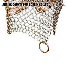 Square Stainless Steel Mesh 316 Chainmail Scrubber Cast Iron