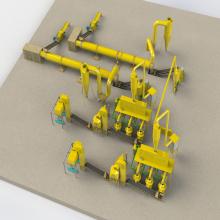 Linha de Máquinas de Pelotas de Alfafa Wood Pellet Production