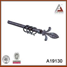 A19130 accesorios de estilo europeo barra de cortina finial, barra de cortina de metal