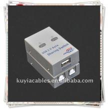 2 Port USB Sharing Switch / 2 portas USB 2.0 Auto Sharing Impressora Scanner Caixa de comutação