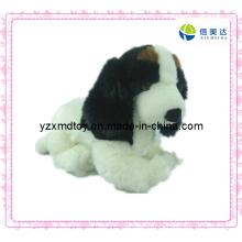 Brinquedo branco da peluche do cão para a venda