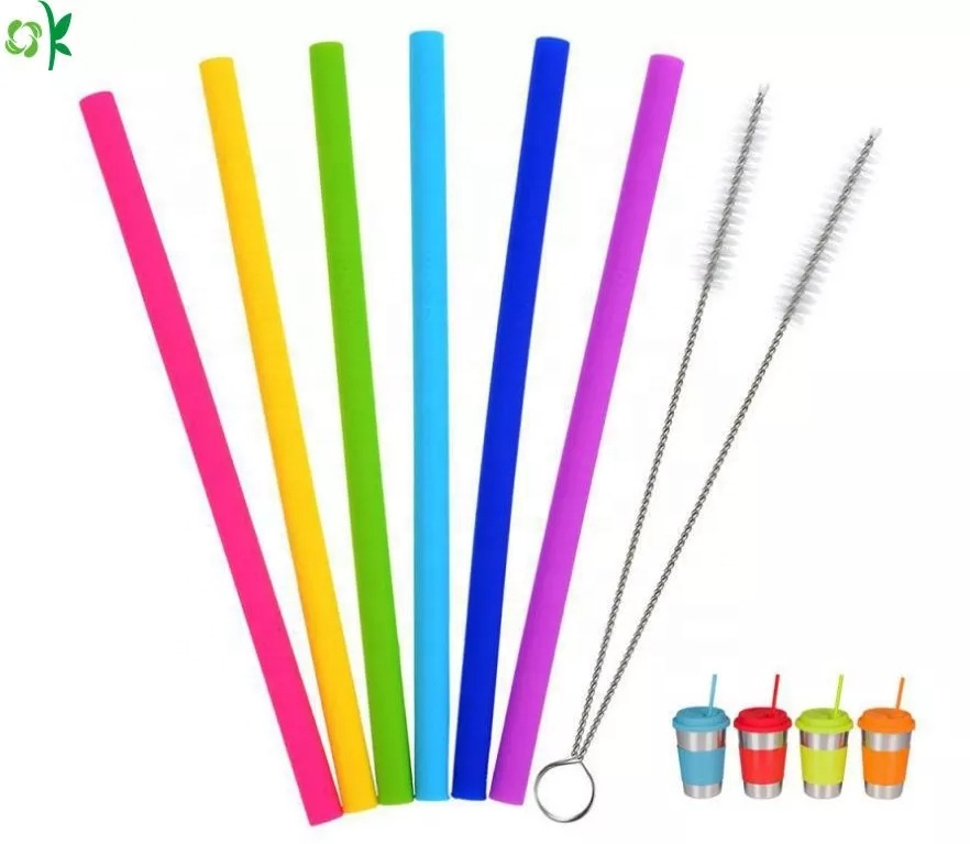 Soft Easy to Clean Foldable Silicone Drinking Straw