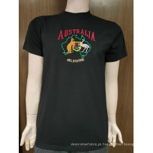 Camiseta masculina 100% algodão personalizada