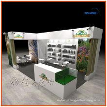 Sizi personalizado e design comércio comércio reutilizável exposição exibição exposição cabine stand exposição