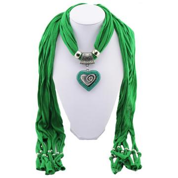 Китай производство высокое качество печатных камень ожерелье кисточки кулон шарф однотонные оптом