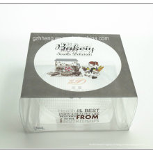 Caixa de bolo plástica impressa costume do PVC transparente (caixa de embalagem do bolo dos PP)