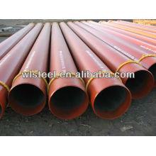 astm a53 / a106 gr.b sch80 tubo de acero sin soldadura