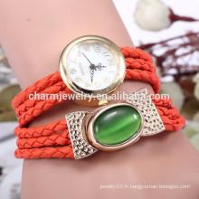 La dernière montre bracelet en cuir véritable / montre-bracelet pour femme BWL021