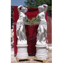 Esculpido em mármore estátua de pedra escultura decoração do jardim escultura (SY-X1116)
