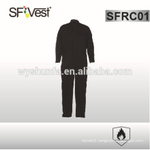 flame retardant 100% cotton fabric black coveralls with many pockets , NFPA2112