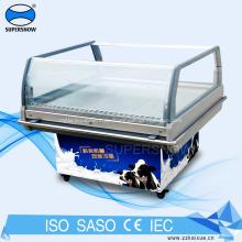 Tragbare Mini-Gefrierschrank-Glastür auf Rädern