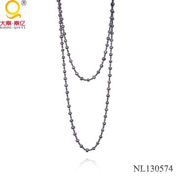 Collier perle à perles d'eau douce