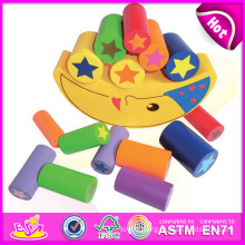 2014 Wooden Balance Intelligence DIY Block Toy for Kid, Wooden Moon Balance Building Block Toy, Color Moon Block Toy W11f031