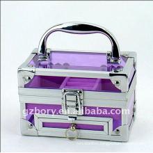 Fancy Acylic Purple Transparent Small Make up Box