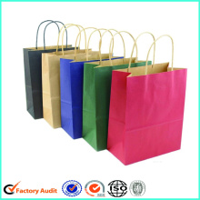 Túi giấy Kraft trắng Shopping Handle Brown