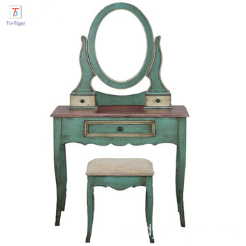 Factory Supply Wooden Vanity Mirror Dressing Table