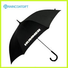 """23 """"parapluie de pluie de cadeau de poignée incurvée promotionnelle imprimée par coutume en plastique"""
