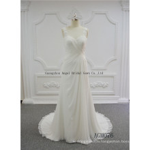 Detachable One-Shoulder Puffy Wedding Gown Bridal Dress
