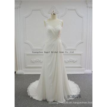 Abnehmbare One-Shoulder Puffy Brautkleid Brautkleid
