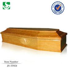 cercueil en bois massif européen à standard