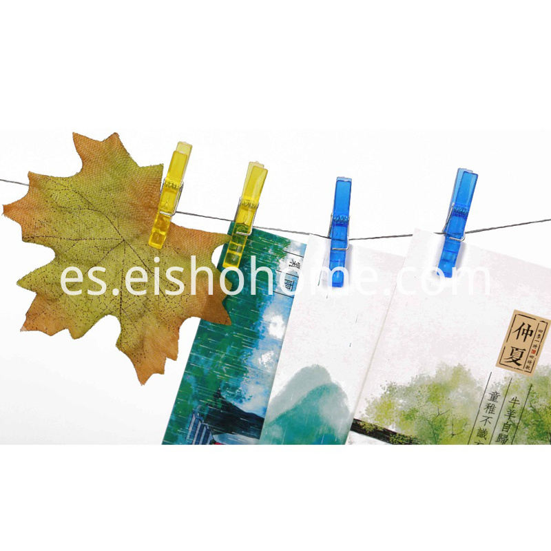 Wholesale Colorful Plastic Clothes Clothespins Photo Paper2