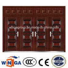 Zwillinge Doorleaf DIY Winga Metall Sicherheit Außen Stahl Tür (W-SD-08)