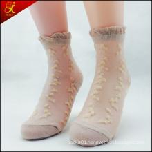 Womens Sheer Transparent Floral Socks