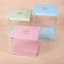 Plastic window cake box