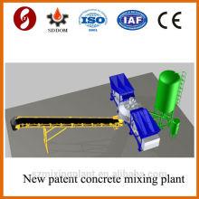 Patent product 20-25m3/h mobile concrete batching plant on sale