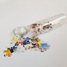 Mini rompecabezas de papel de 150 piezas en tubo de plástico