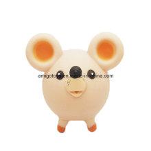 Brinquedos do animal do rato do plástico do círculo para o bebê