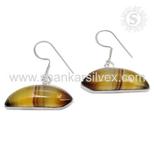 Sommer Schönheit gestreiften Onyx Ohrring 925 Sterling Edelstein Silber Ohrring Schmuck jaipur Großhändler