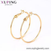91058- Xuping Jewelry Hot Sale Engagement Ladies Hoops Earring