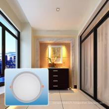 Lumière enfoncée par LED / 85-265V double couleur ronde COB Light