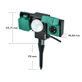 UK IP54 enchufe exterior con sensor