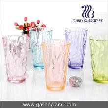 Fancy Candy Color Glass Tumbler pour jus ou boissons mixtes Boire