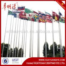 Poteau de drapeau en acier galvanisé à chaud
