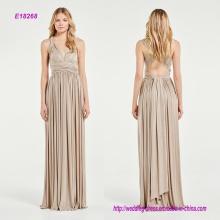 Funkelnde Multi-Way A-Line Brautjungfer Kleid