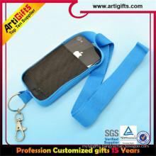 Hot selling custom printed custom anime mobile phone strap