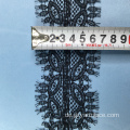 Schwarze dünne Wimpern Lace Ribbon Trim