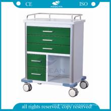 Para la estación de trabajo para enfermeras con diferentes tamaños de cajones carro medial móvil