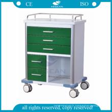 Pour poste de travail d'infirmière avec différents tiroirs de taille chariot mobile médial