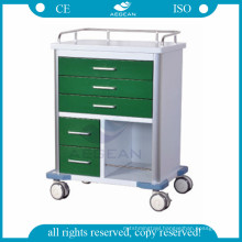 For nurse workstation with different size drawers mobile medial cart