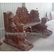Piedra de mármol antigua silla de jardín para jardín ornamento (qtc067)