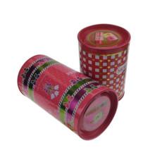 Boîte en étain ronde pour paquet cadeau Forme de parfum Étain