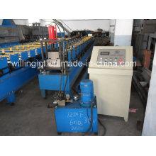 Máquina formadora de rollos de bajante producida