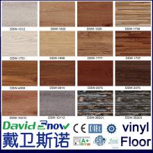 Нескользящей древесины выглядят роскошь нажмите ПВХ виниловое покрытие