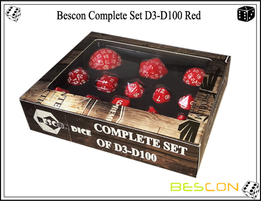 Complete Dice Set D3-D100 (8)