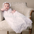 Fancy Baby Girl White Toddlers Frock Dresses Baby Infant Baptism Clothes with Hat for 0-2 Year Old