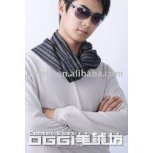 Men's jacquard black wheel pattern cashmere scarf